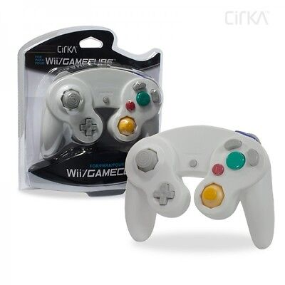New Wired Controller Game Pad for Ninetndo Gamecube GC WII White US Cirka Brand