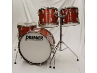 1980s Premier Soundwave Drum Kit Large Sizes – 14,15,18,& 24″