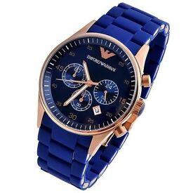 Blue Armani watch