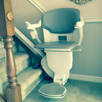 Two Stannah 420 Stairlift Chair plus 13' Track Exc. Condition!