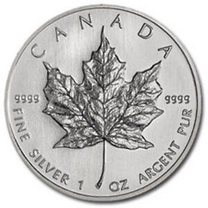 silver Maple leaf/Pièce en argent 1 oz various years