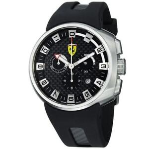 Ferrari F1 Podium Carbon Fiber Chronograph Dial Men's Watch
