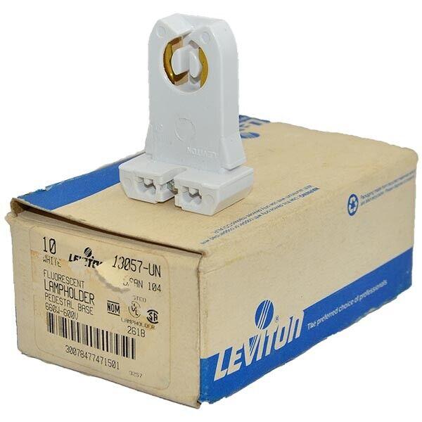 13057-UN Leviton 600VAC 600W Pedestal Lampholder Fluorescent Box of 10 --SA