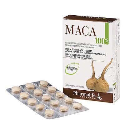 """Maca 100% Pharmalife -Dalle Ande """"La rapa dell'amore""""Aumenta la libido del 200%"""