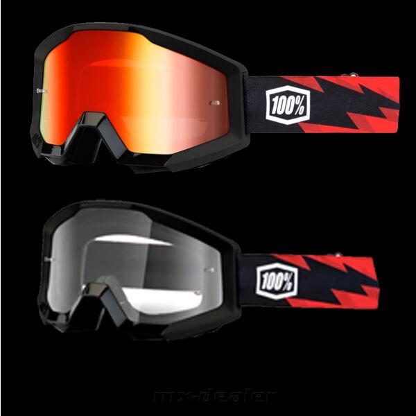 100 /% Prozent Brille Strata Equinox weiß  Motocross Enduro Downhill Cross Quad