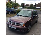 Cheap low mileage micra,years mot too,48000 miles only.