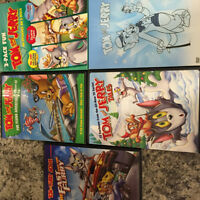 5 Tom and Jerry DVD's