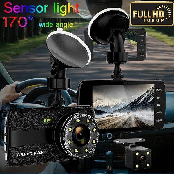 "4"" HD IPS Screen Dual Camera 1080p Car Dash Camera 170° Wide Angle, Night Vision"