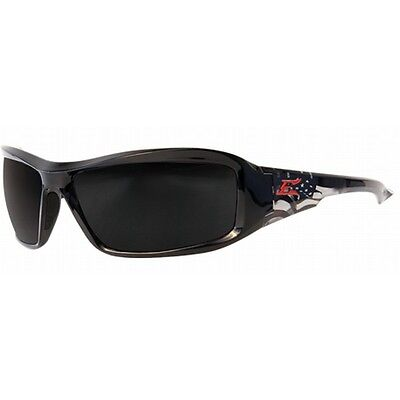 Edge Polarized Safety Glasses Designer Patriot Smoke Lens (Edge Polarized Glasses)