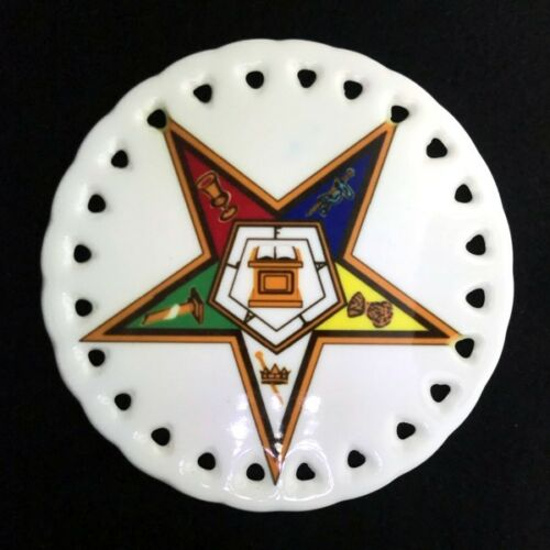 Order of the Eastern Star Round Ceramic Christmas Ornament