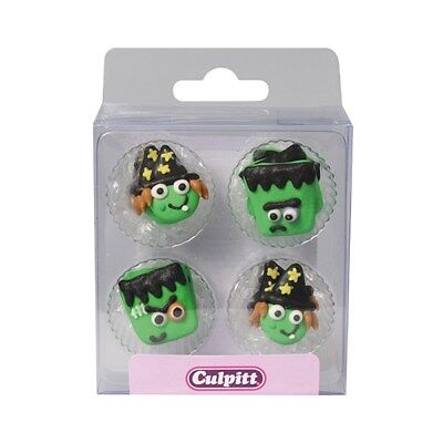 12 Halloween Figuren Hexe Monster Tortendeko Kuchen Zucker Figuren Süß Muffin