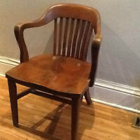 Carved Teacher's chair.  Bought in 1963.
