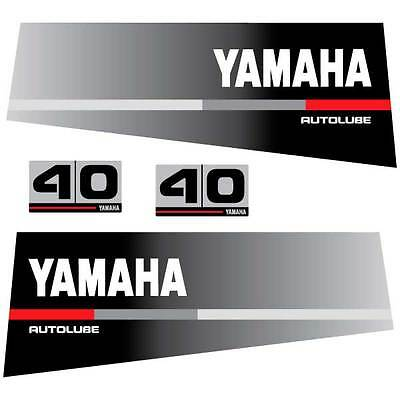Yamaha 40 autolube outboard decal aufkleber adesivo sticker set, used for sale  Shipping to South Africa
