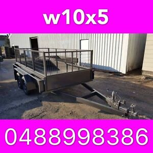 10x5 TANDEM TRAILER WITH CRATE HEAVY DUTY FULL CHECKER PLATE 2 South Windsor Hawkesbury Area Preview