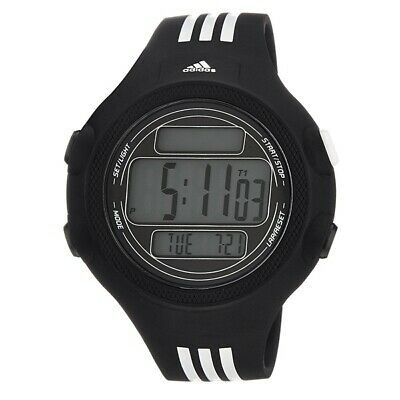 Adidas ADP6081 Black Silicone Chrono Mens Watch In BOX
