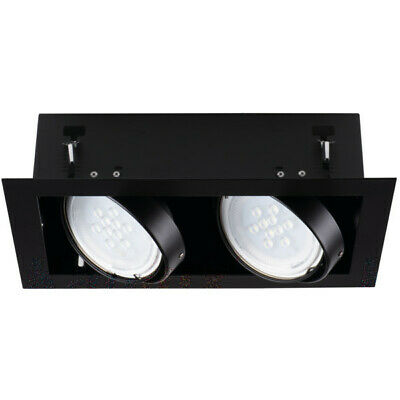 Doble Foco GU10 LED Ajustable Inclinable Empotrado Techo Shop Comercial Pantalla