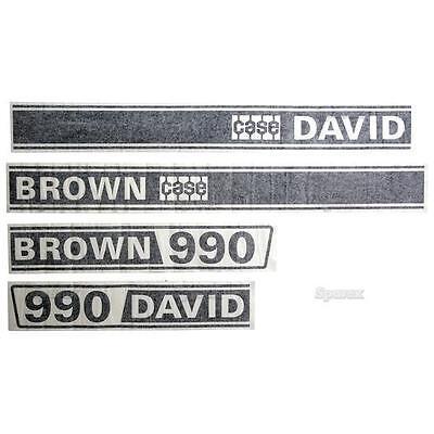 Case 990 David Brown 990 Selectamatic Tractor Basic Hood Decal Set