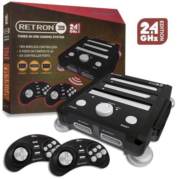 Hyperkin RetroN 3 Console for NES/SNES/GENESIS Console 2.4Ghz Edition Black