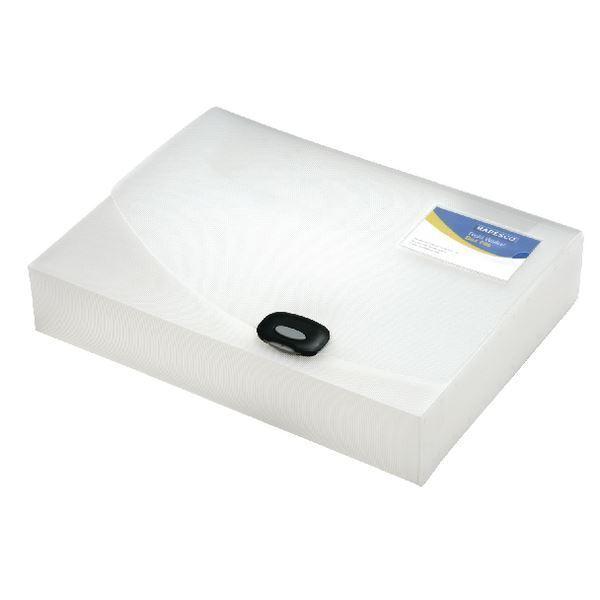 Rapesco A4 Rigid Wallet Box File 40mm Clear 0711 [HT17038]