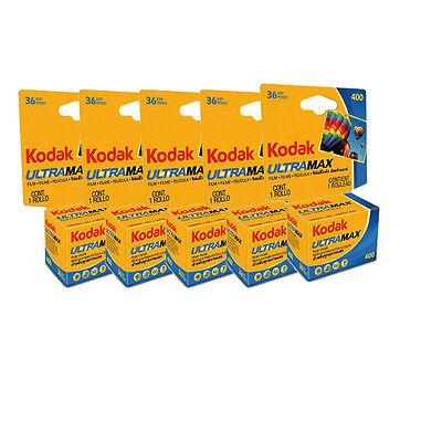 5 Rolls Kodak Ultramax GC 400 ISO 36 Exposure 35mm Color Film