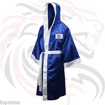 Boxing Robe Boxing Gown Boxing Costume Boxing Walkout Robe Full Length with Hood ()