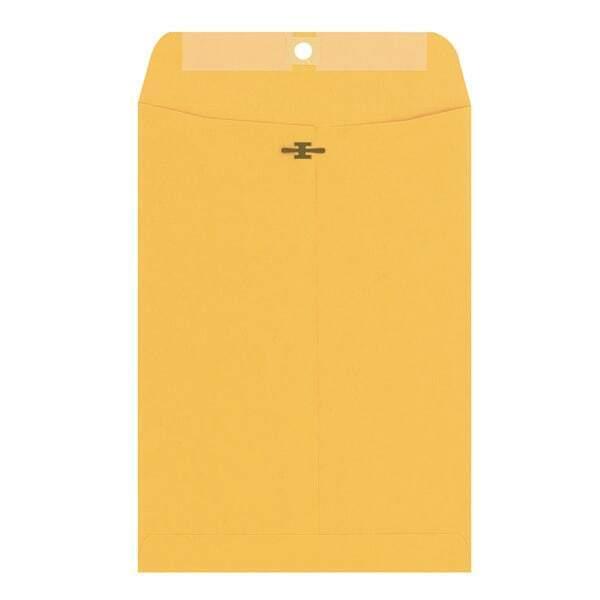 "Heavy-Duty Envelopes, 28Lb, 9""x12"", 100/BX, Kraft"