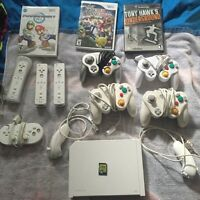 Wii with 3 games/4wii motes/ and more!