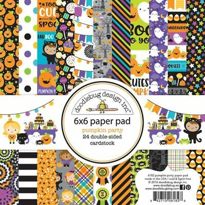 Scrapbooking Crafts Doodlebug 6X6 Paper Pad Pumpkin Party Halloween Costumes - Halloween Costumes Pumpkin