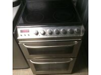 ZANUSSI Electric cooker in black and chrome 55 cm