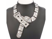 Vintage Exaggerated Rhinestone Necklace For Women