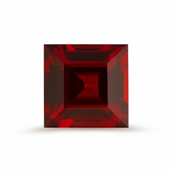 Natural Mozambique Garnet Square Step Cut AAA Quality from 3MM-9MM