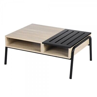 Amazing Coffe Table Tea Table With Extra Drawers Wooden Slats and Multipurpose