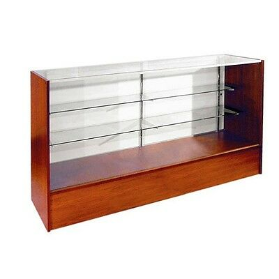 Item Sc4che 4 Econ Full Vision Showcase In Cherry Glass Display Case Will Ship