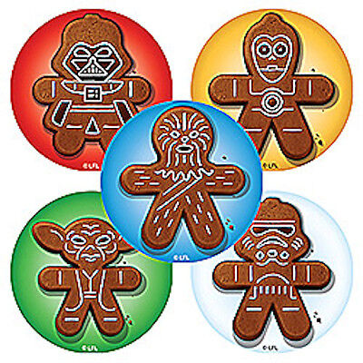 15 Star Wars Gingerbread Holiday Stickers Party Favors Teacher Supply Yoda Darth