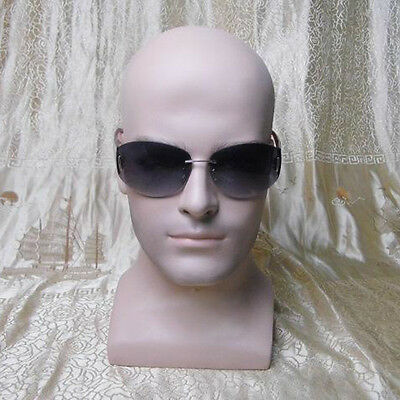 Realistic Lifelike Fiberglass Male Mannequin Head For Hatwigglasses Display