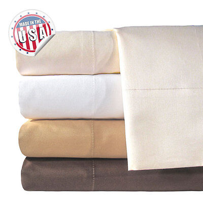 New Veratex 800 Tc 100  Egyptian Cotton 4 Pc Solid Sheet Set Full Queen King Cal
