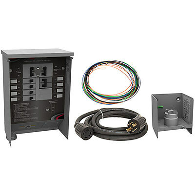 Milbank Mmts301sysx1c - 30-amp 6-circuit Power Transfer Switch System W In...