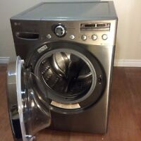 LG Steam Washer and GE Evolution Dryer (sold individually)