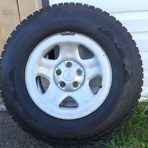 Winter tires on jeep factory rims ( low mileage )
