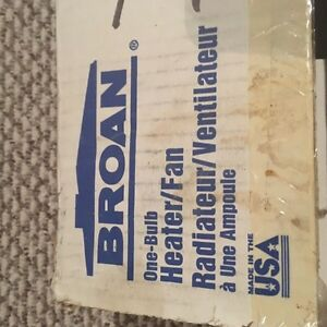 Broan One Bulb Heater/Fan Peterborough Peterborough Area image 1