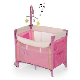 Hauck Dream and Care Centre Baby travel Cot (Pink)