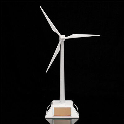 Solar Windmill - Plastic Desktop Model Solar Powered Windmills Wind Turbine Power Tool