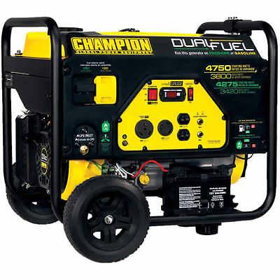 Champion 76533 - 3800 Watt Electric Start Dual Fuel Portable Generator W Rv ...