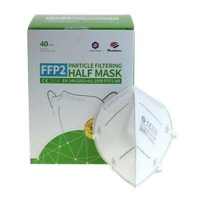 40 Stück medizinische Mundschutz FFP2 Maske Schutzmaske CE 2834 zertifiziert