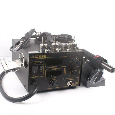 110v Solder Rework Station Gordak 952 Smd Hot Air Rework Station Soldering Iron