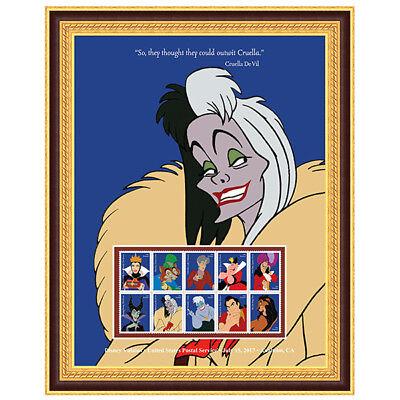 USPS New Disney Villains Cruella de Vil Framed Art