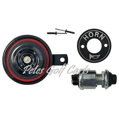Golf Cart Horn Kit Floor Mount Horn Button and Hardware Club Car Ezgo Yamaha