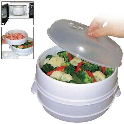 Cacerola para cocinar al vapor en microondas cocina saludable sin aceites