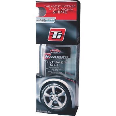 3 Pk BLACK MAGIC Titanium 16 Oz. High-Quality Pourable Tire Wet Gel Tire Shine Black Magic Tire Gel