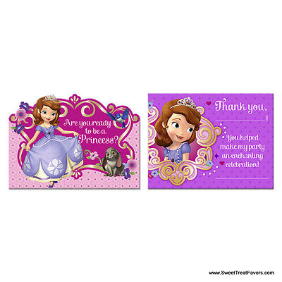 Sofia The First INVITATIONS Birthday Decoration Party Supplies Princess - Sofia First Party Supplies
